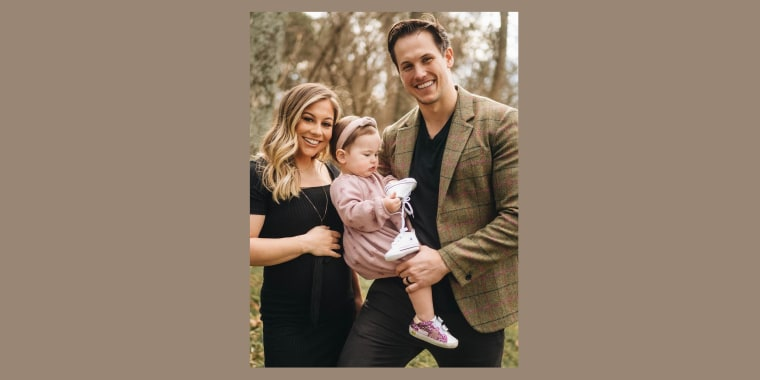 Shawn Johnson East and her husband also have a 14-month-old daughter.