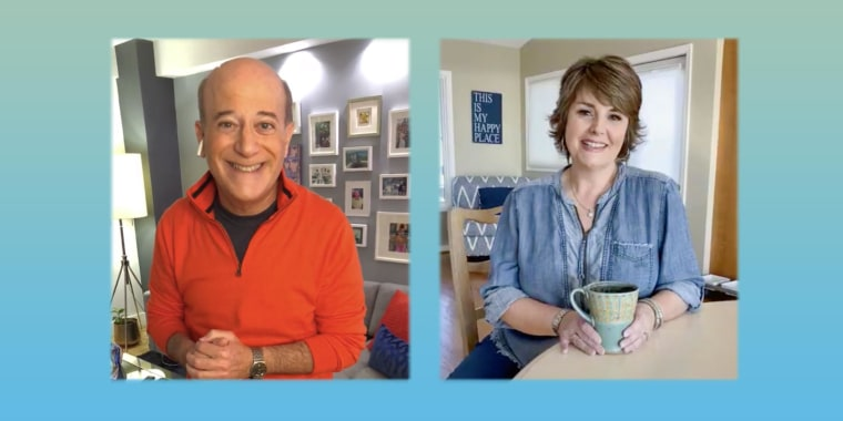 Illustration of Steve Greenberg  and Jill Bauer talking about how to keep your New Year Resolutions