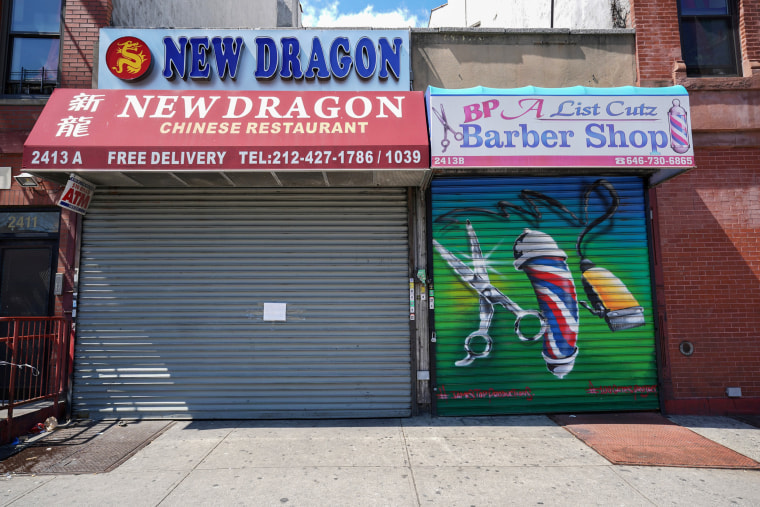 Image: FILE PHOTO: A Chinese restaurant and barber shop in Harlem are closed,