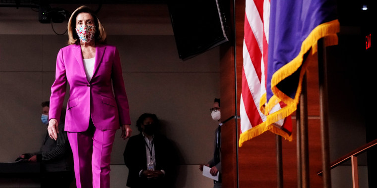 Image: U.S. House Speaker Nancy Pelosi holds news conference at U.S. Capitol a day after violent protests in Washington