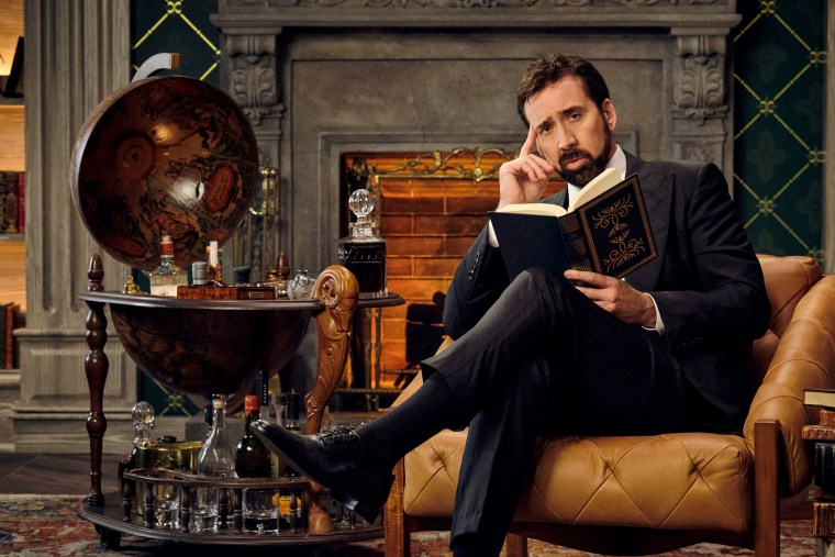 """Nicolas Cage as himself in """"History of Swear Words"""" on Netflix."""