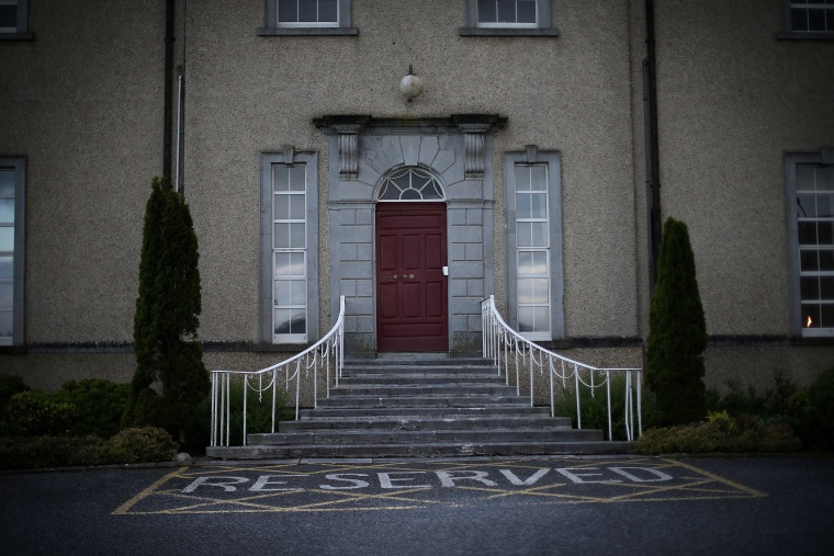 Image: The Sean Ross Abbey in Roscrea, Tipperary, which was mother and baby home operated by the Sisters of the Sacred Hearts of Jesus and Mary from 1930 to 1970