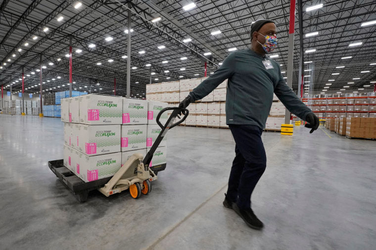 Image: Moderna's COVID-19 vaccine at the McKesson distribution center in Olive Branch, Mississippi