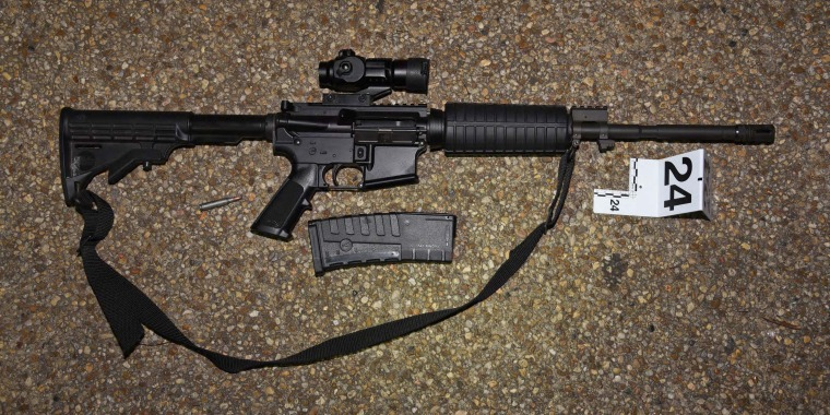 One of the weapons found in the truck of Lonnie Leroy Coffman in Washington, D.C., on Jan. 6, 2021.
