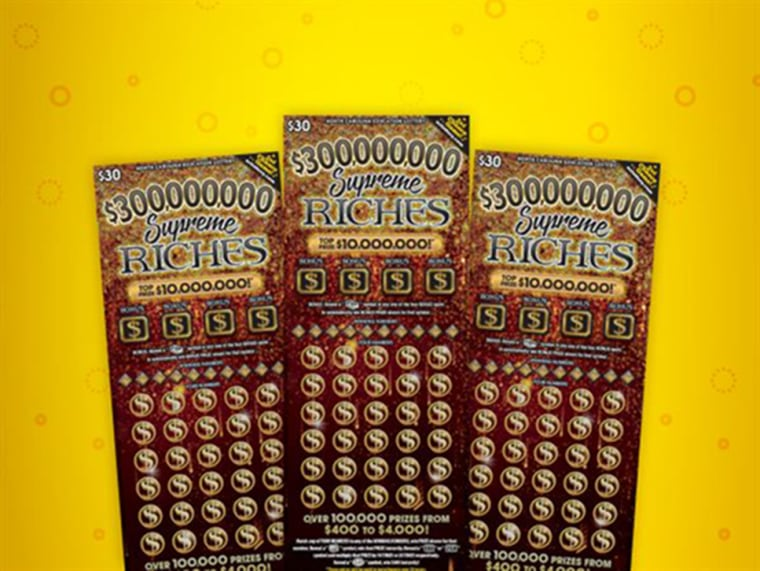 The Supreme Riches second-chance scratch off lottery cards in North Carolina.