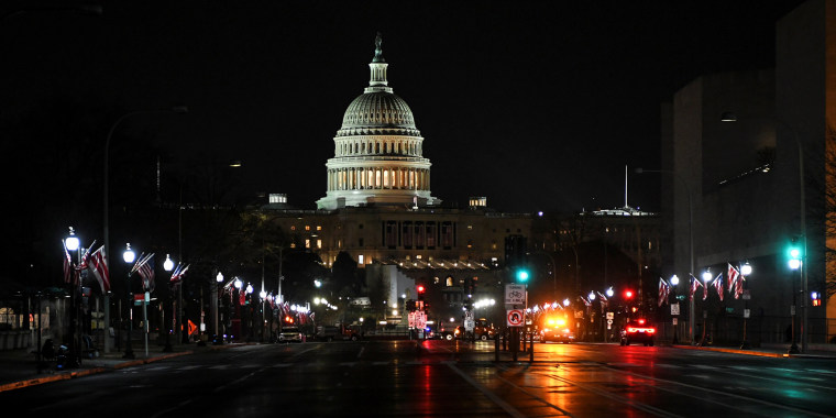 Image: A view shows a road leading to the U.S. Capitol in Washington