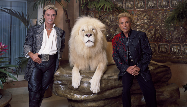 Las Vegas illusionists Siegfried, right, and Roy in 2011.