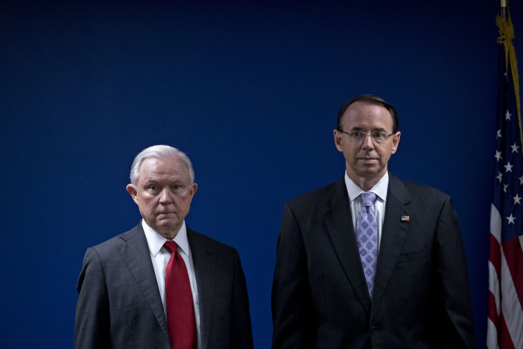 AG Sessions And Deputy AG Rosenstein Announce Efforts To Reduce Transnational Crime