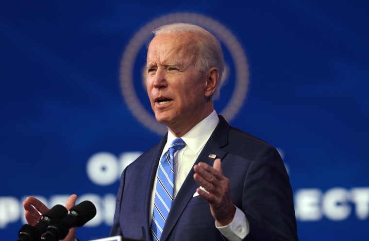 Image: President-elect Joe Biden speaks as he lays out his plan for combating the coronavirus and jump-starting the nation's economy at the Queen theater