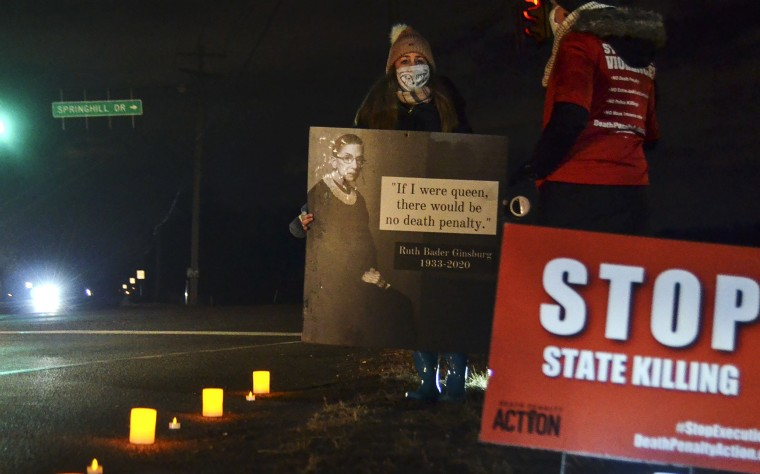 Image: Dustin Higgs, death penalty protest
