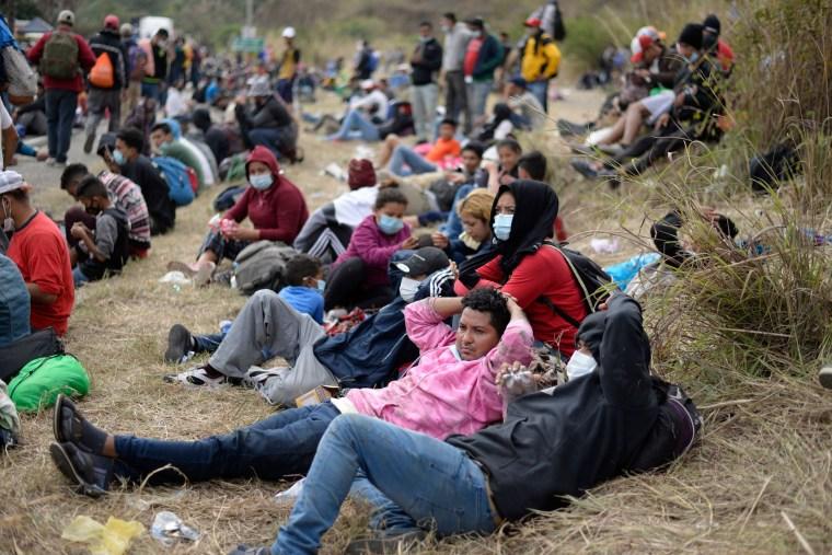Image: GUATEMALA-HONDURAS-US-MIGRATION-CARAVAN