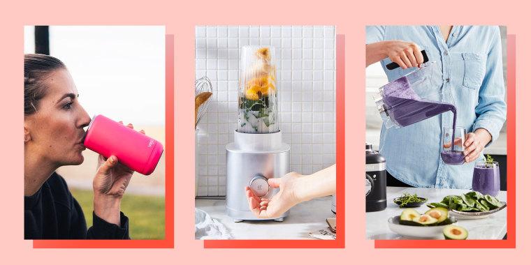 Illustration of Vejo Starter Kit blender, KitchenAid K400 blender and the ZWILLING Enfinigy Personal Blender