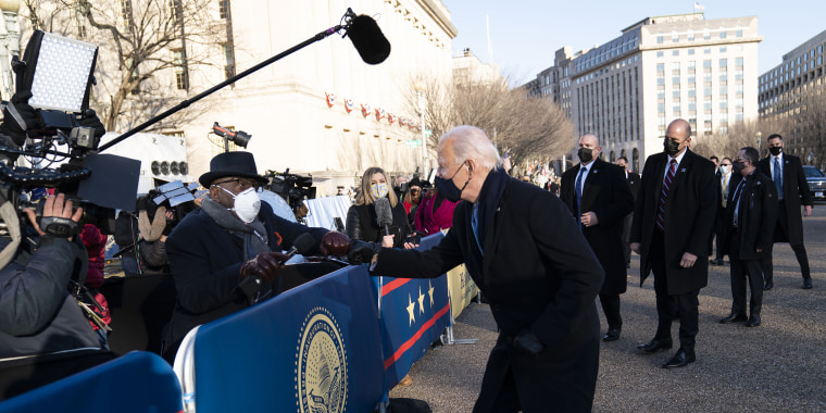 President Biden ran over to Al Roker during a memorable moment in the inauguration parade.