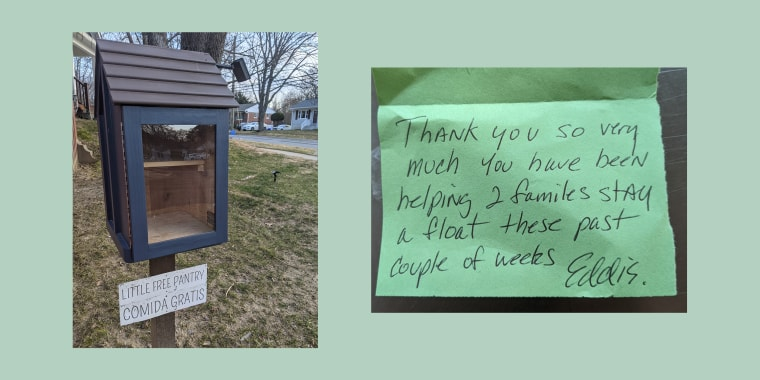 Author Celeste Headlee posted about the note and the pantry itself on Twitter, leading to an outpouring of support and financial donations.