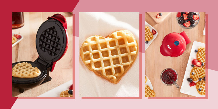 Illustration of heart shaped waffles, from dash mini waffle maker