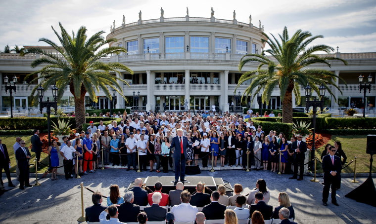 Image: Donald Trump speaks at a campaign event at Trump National Doral in Miami, Fla., on Oct. 25, 2016.