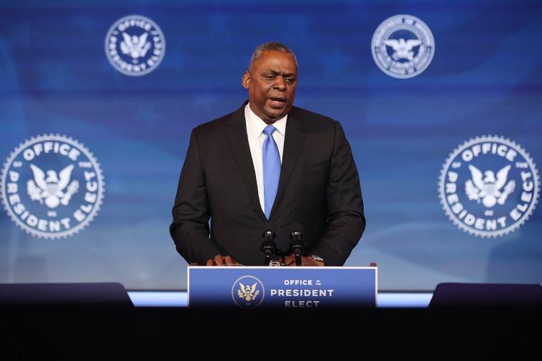 Image: President-Elect Biden Introduces Nominee For Secretary Of Defense General Lloyd Austin