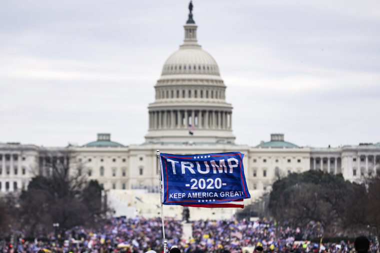 """Image: Trump Supporters Hold \""""Stop The Steal\"""" Rally In DC Amid Ratification Of Presidential Election"""