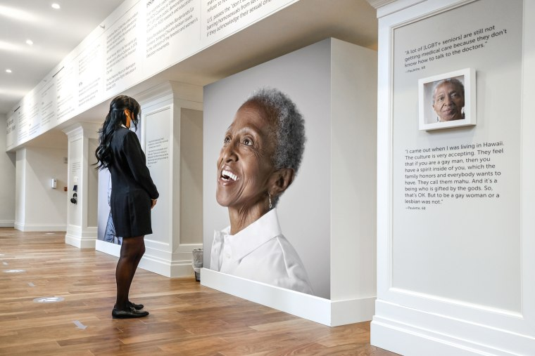 """Not Another Second,"" an art exhibit in Brooklyn, New York, features 12 LGBTQ elders, many of whom spent most of their lives in the closet. The exhibit debuted at The Watermark at Brooklyn Heights on Jan. 19."