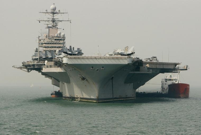 Image: USS Theodore Roosevelt docks at Portsmouth