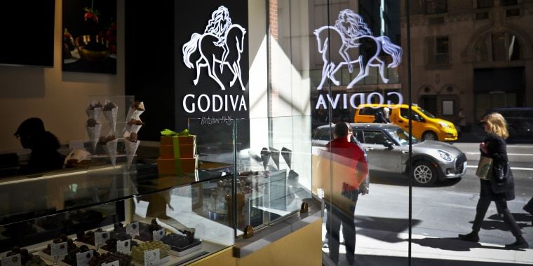 Godiva will be closing or selling all of its brick-and-mortar locations in North America, the company said in a statement.