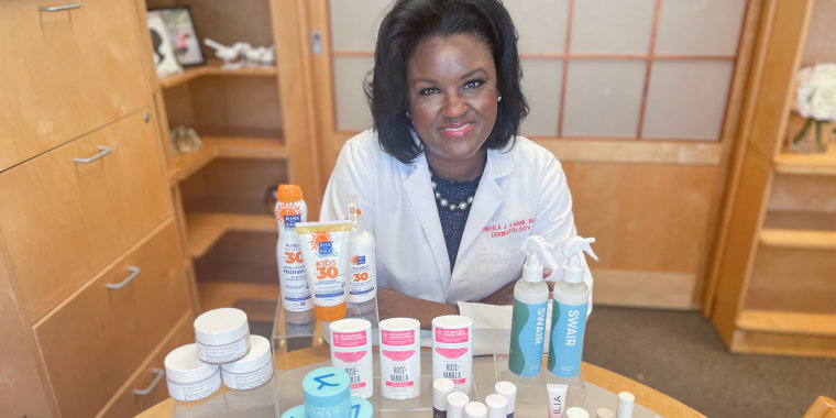 Dr. Angela Lamb sharing her clean beauty product picks
