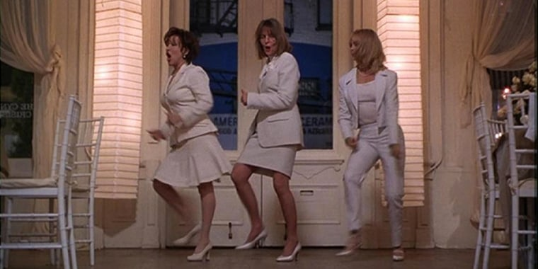 """Bette Midler, Diane Keaton and Goldie Hawn performed """"You Don't Own Me"""" in this famous scene from """"First Wives Club."""""""
