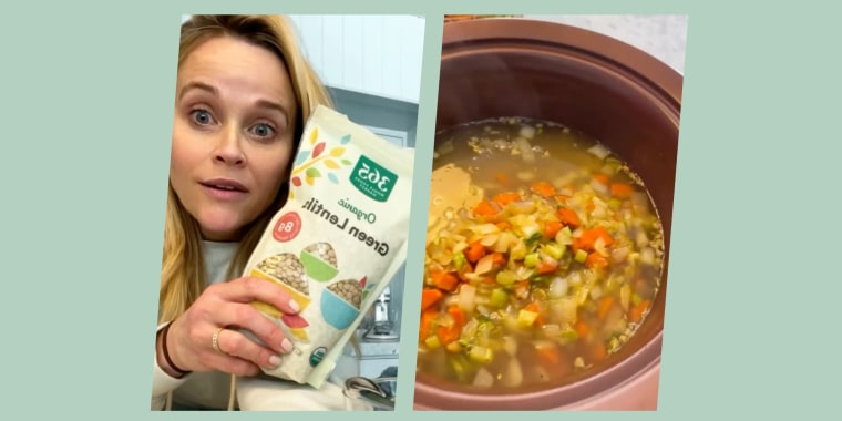 Witherspoon shows us how to turn a few simple ingredients into yummy lentil soup.