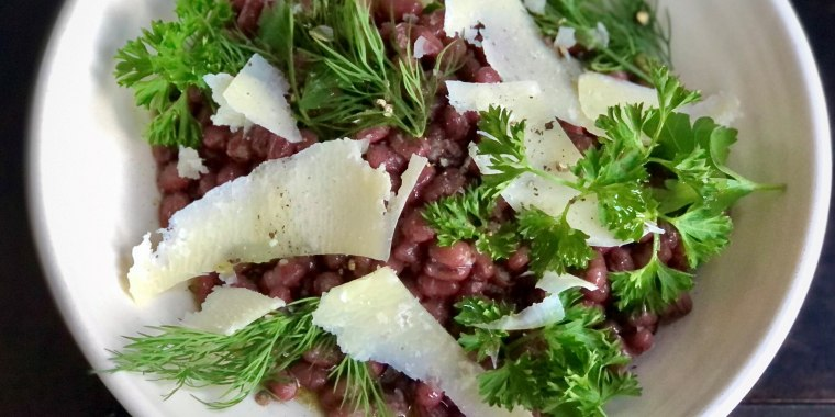 Garlicky Herby Beans with Olive Oil and Parmesan