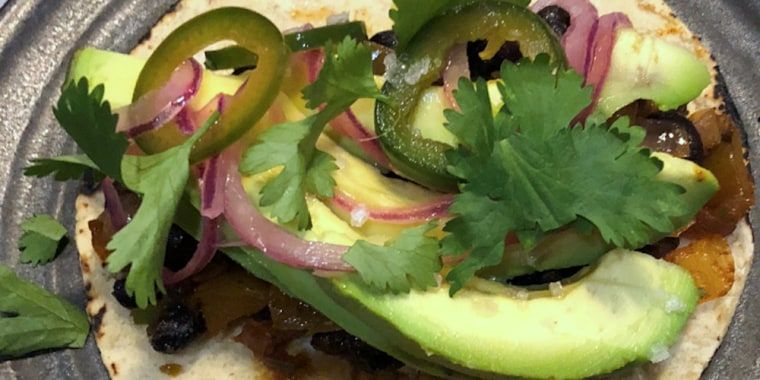 Bean and Avocado Tacos with Quick Pickled Jalape?os