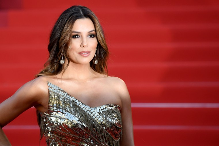Image: Eva Longoria arrives for a screening at the Cannes Film Festival in France on May 16, 2019.