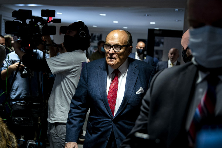 Trump Campaign Holds Press Conference With Rudy Giuliani And Jenna Ellis