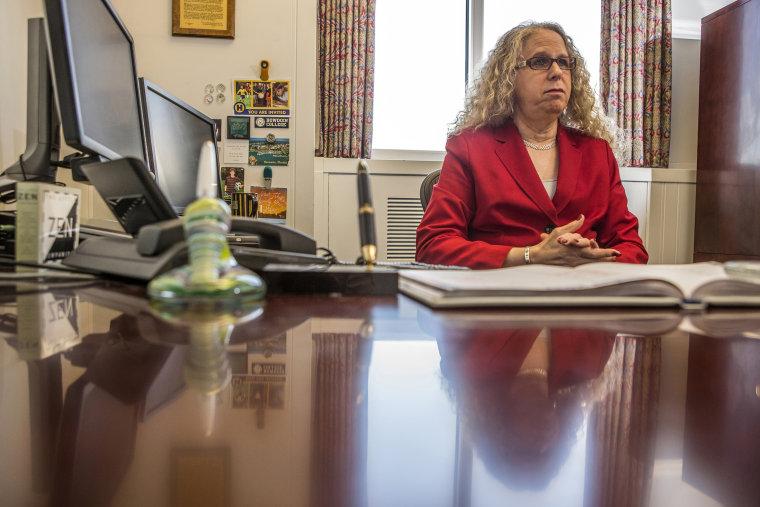 Dr. Rachel Levine, physician general nominee, in her office in Harrisburg, Pennsylvania
