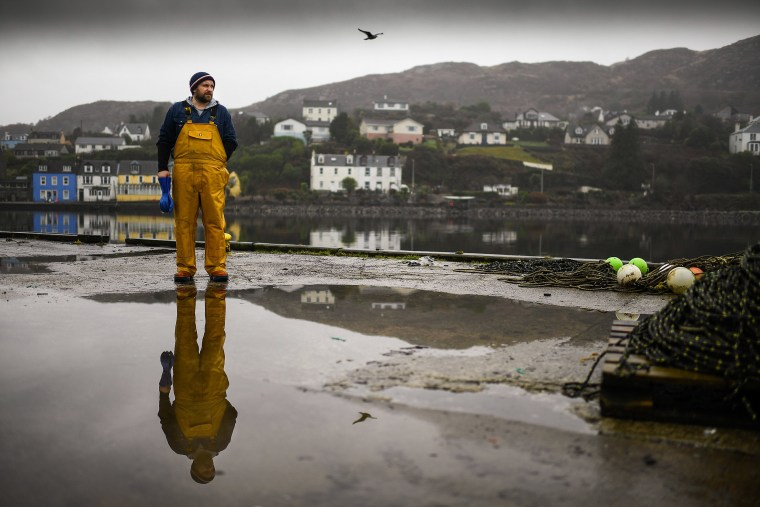 Image: Jamie McMillan from Loch Fyne Langoustines poses for a photograph on Jan. 14, 2021 in Tarbert, Scotland