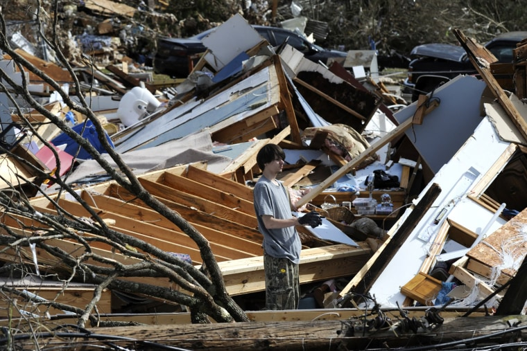 Image: Tornado Rips Through Fultondale, Alabama Damaging Structures