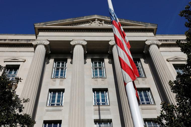 Image: U.S. Justice Department building is seen in Washington