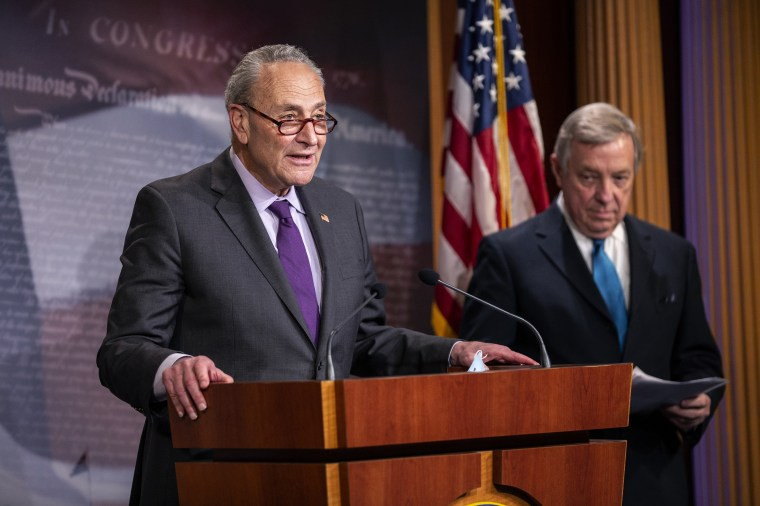 Senate Leadership Hold Weekly News Conference