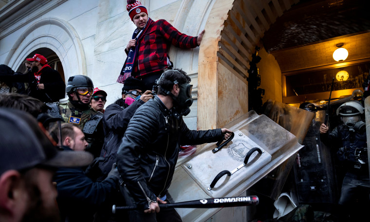 Image: Trump Supporters clash with police and the security as storm into the U.S. Capitol.