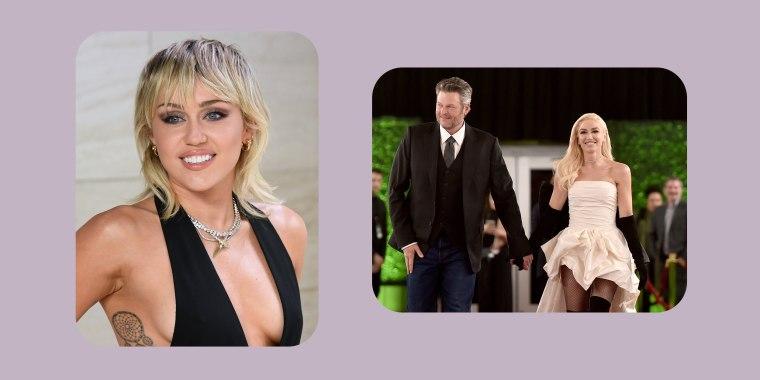 Miley Cyrus, Blake Shelton, Gwen Stefani