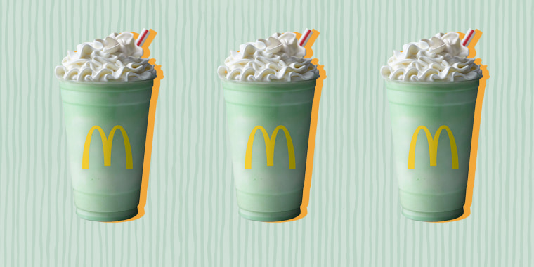 It may feel like winter but McDonald's Shamrock Shake says spring is here.