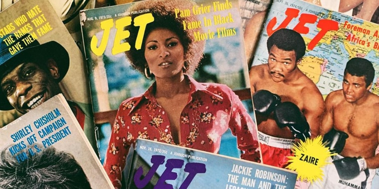 BLK MKT Vintage provides a space for Black people to see items from their own history, items like Jet magazine, presented as valuable and worth preserving.