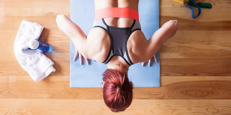 Arching your back while performing pushups or planks is a tell-tale sign that you aren't engaging your core properly.