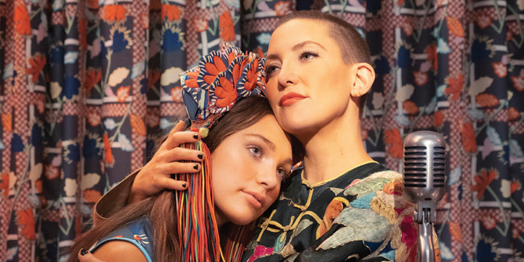 "Maddie Ziegler, left, portrays a teenager with autism in Sia's directorial debut, ""Music,"" that also stars Kate Hudson."