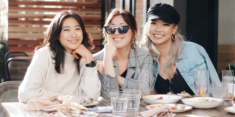 "From left to right: Janet Wang, Melody Cheng and Helen Wu, first bought microphones off Amazon in February 2017 and launched their own podcast, ""AsianBossGirl,"" later that year."