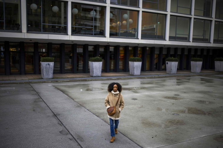 Image: French ballet dancer Chloe Lopes Gomes poses for a picture outside the Deutsche Oper in Berlin