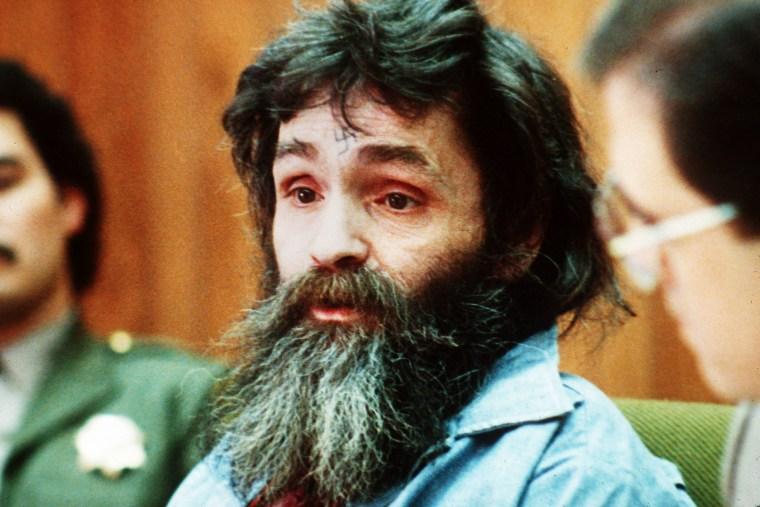 Charles Manson in court in 1986.