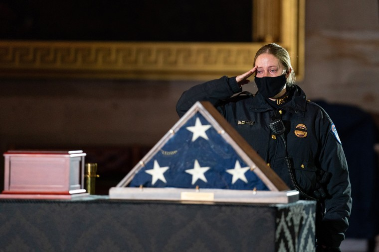 Image: Capitol Police Officer Brian Sicknick Lies In Honor At U.S. Capitol