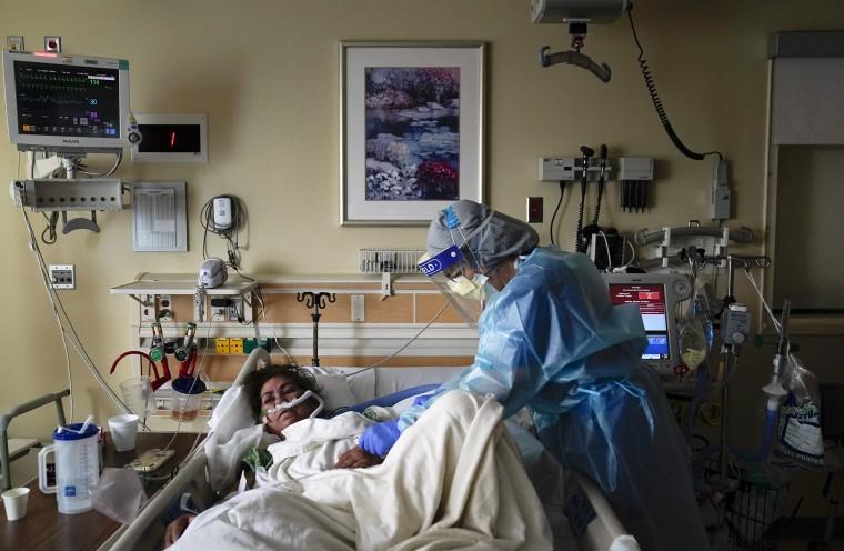 Image: Covid positive patient
