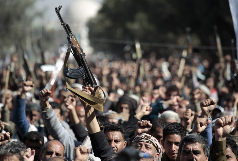 Anti-US protest over Houthis terrorist designation in Sanaa