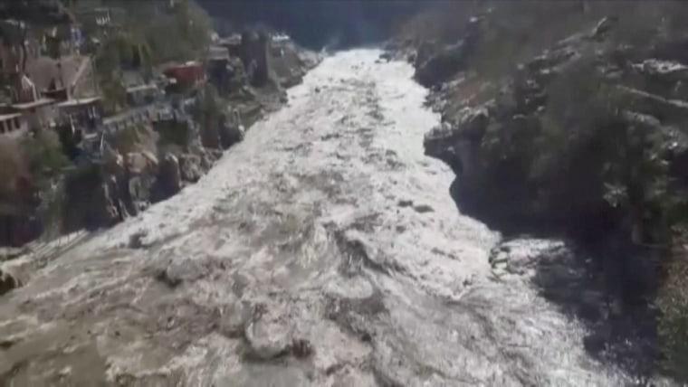 Image: Himalayan glacier bursts in India
